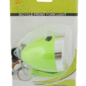 Lampa przód JY-592 Retro bateryjna 3 Led zielona