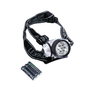 Lampka czołowa JY-838 bateryjna 7 LED 3 funkcyjna
