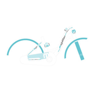Rower Majdller 16″ BELLA 16 Biały-mięta-grafit