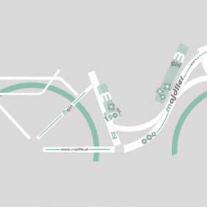 Rower Majdller 20″ BELLA 2.3 Biały-mięta