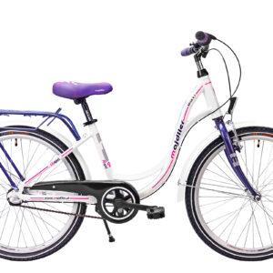 Rower Majdller 24″ BELLA 4.3 Biały-viola-różowy