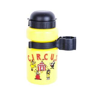 Bidon dzieciecy żółty 300ml + mocowanie