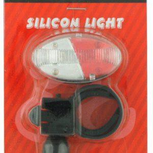 Lampa  tył-przód JY-388WR bateryjna 4 LED 3 funkc