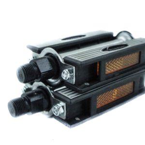 Pedały  FP-901A stalowo-gumowe czarne