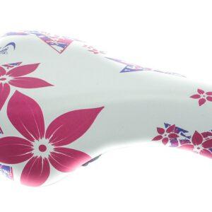 Siodło 996 Junior duże biało-różowe 230×150 mm