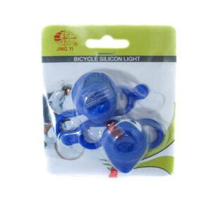 Zestaw lamp JY-3201 bateryjne 2 LED niebieskie