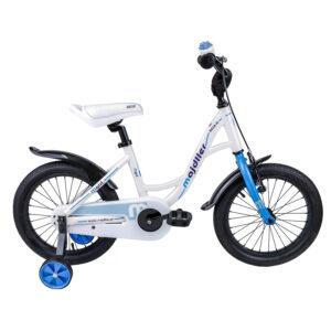 Rower Majdller 16″ BELLA 16 Biały-niebieski-grafit